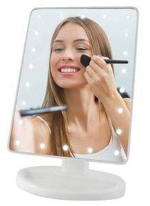 Lusterko kosmetyczne do makijażu z podświetleniem LED - białe