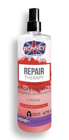 Dwufazowa mgiełka dla zniszczonych, suchych i trudnych do rozczesywania RONNEY Professional REPAIR THERAPY 2-Phase for damaged & dry hair 475 ml