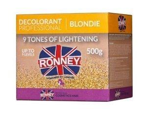 Ronney Blondie 9 Tones bezpyłowy rozjaśniacz do włosów 500 g