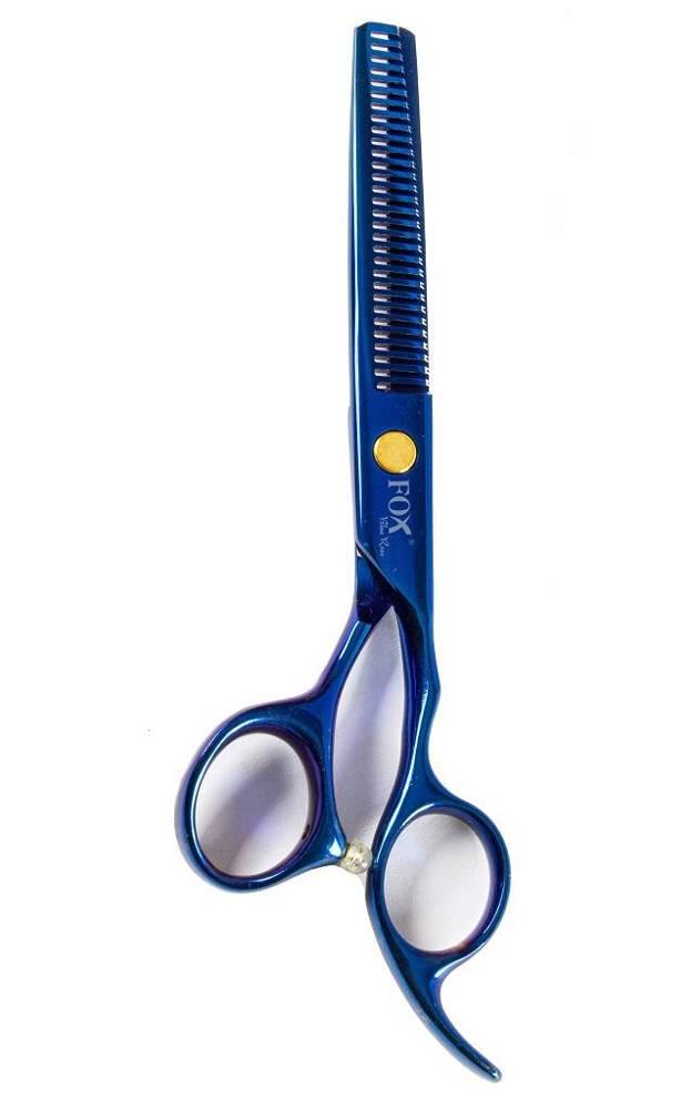 """Fox Blue Rose degażówki fryzjerskie 6"""" + etui + grzebień"""