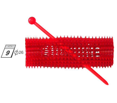 GORGOL wałek haft czerwony Ø26mm 9szt