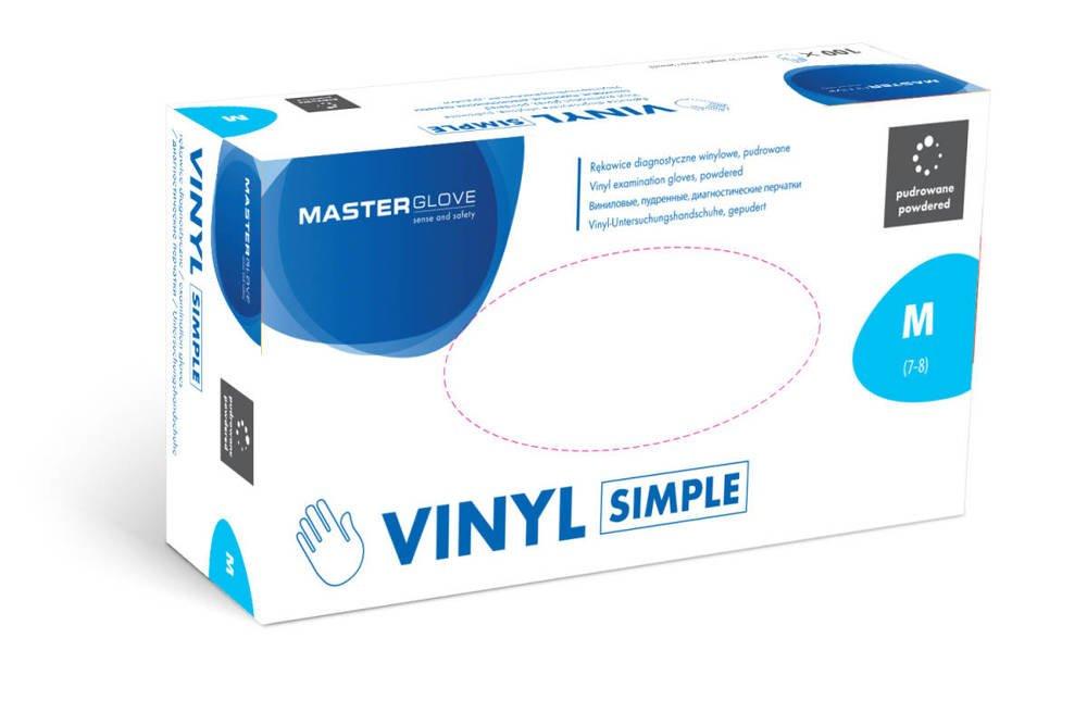 Rękawice winylowe Master Glove 100szt rozmiar M