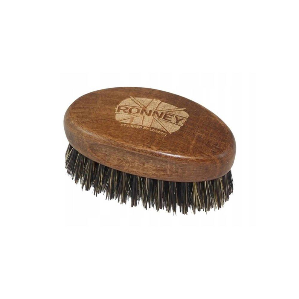 Szczotka do brody RONNEY z naturalnym włosiem z dzika, mała